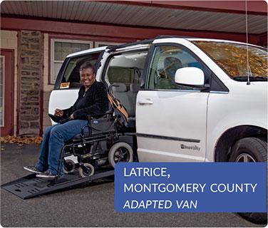 Latrice, Montgomery County, Adapted Van