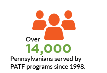 Over 14,000 Pennsylvanians served by PATF programs since 1998.