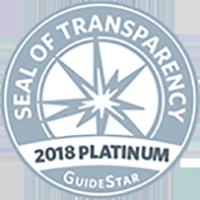 Seal of Transparency 2018 Platinum GuideStar