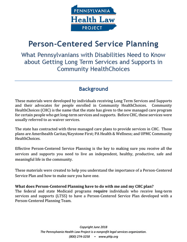 Thumbnail Person-Centered Service Planning