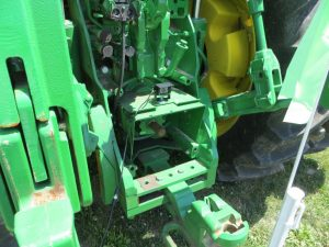 Cab camera mounted on a tractor hitch