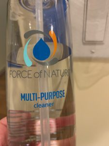Force of Nature multi-purpose cleaner.