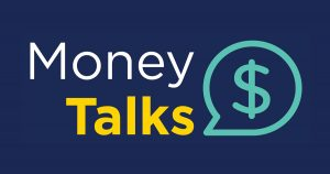 Money Talks with a word bubble containing a dollar sign.