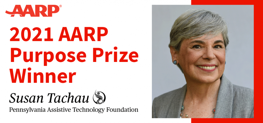 Featured image for2021 AARP Purpose Prize Winner: PATF's CEO & Disability Advocate Susan Tachau