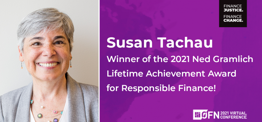 Featured image forPress Release: Susan Tachau receives Ned Gramlich Award for passionate advocacy and pioneering finance work with disability community